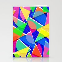 80s shapes Stationery Cards