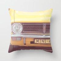 Yellow Mini Throw Pillow