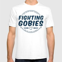 Fighting Gobies Nationals - Blue Mens Fitted Tee White SMALL