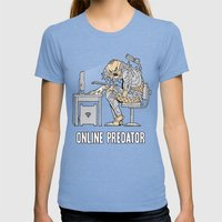 Online Predator Womens Fitted Tee Tri-Blue SMALL