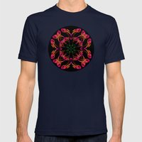 Exotic smoke flower Mens Fitted Tee Navy SMALL