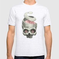 Open Your Mind! Mens Fitted Tee Ash Grey SMALL
