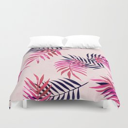Duvet Cover - Pink Palm Pattern - micklyn