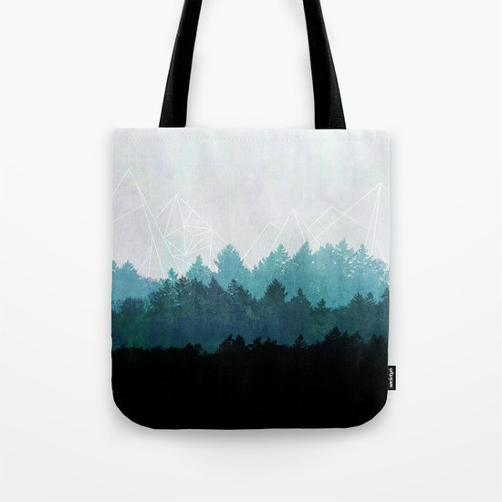 Woods Abstract  Tote Bag