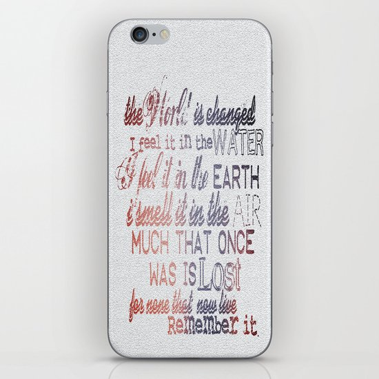 Remember it. iPhone & iPod Skin