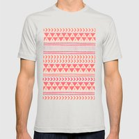 Winter Stripe II Mens Fitted Tee Silver SMALL