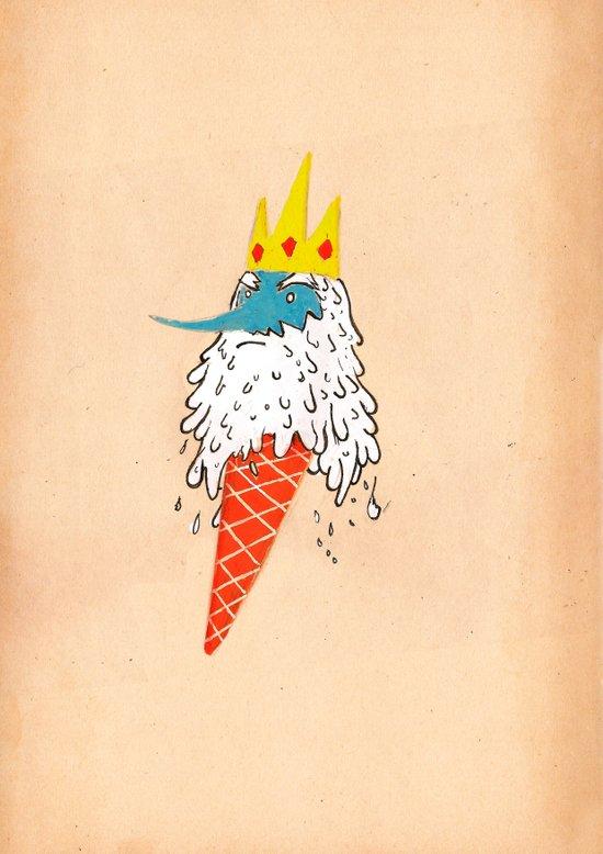 Ice king as an ice cream  Canvas Print
