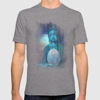 Buddha Mens Fitted Tee Tri-Grey SMALL