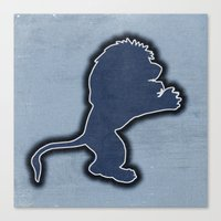 Original Detroit Lions L… Canvas Print