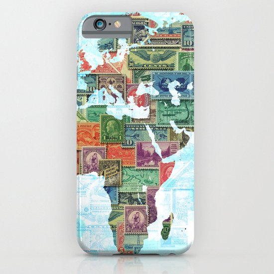 World Stamp Map iPhone & iPod Case