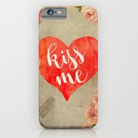 Vintage Quotes Collection -- Kiss Me iPhone 6 Slim Case