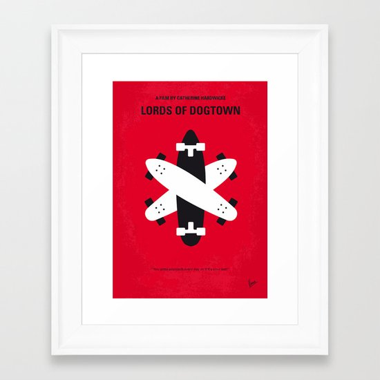 No188 My The Lords Of Dogtown minimal movie poster Framed Art Print
