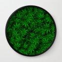 Weed. Wall Clock