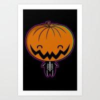Cutie Pumpkin Pie Art Print