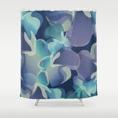 Micro Blue Shower Curtain