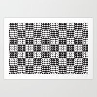 Hob Nob Black White Quar… Art Print