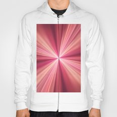 Pink Rays Abstract Fractal Art Hoody