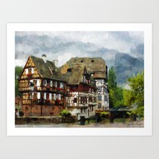Strasbourg Channels Art Print