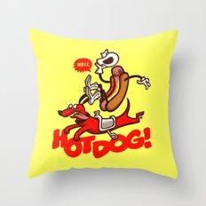 Hot Dog! Throw Pillow