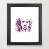 Captain Jack - Pirates of the Caribbean Framed Art Print