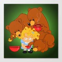 Goldilocks And The Three… Canvas Print
