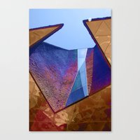 Canvas Print featuring Angles in Barcelona by Elise Tyv