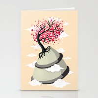 cherry blossom Stationery Cards featuring Cherry Blossom by Freeminds