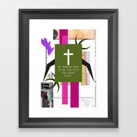 this will go down in  history and oh how glorious is the history of God working for his Own glory  Framed Art Print
