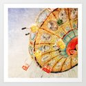 Sea Swings... Art Print