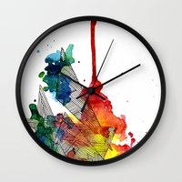 Watercolor And Fine Line… Wall Clock