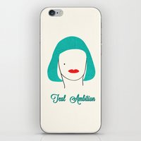 Teal Ambition iPhone & iPod Skin