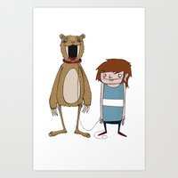Pet Bear Art Print