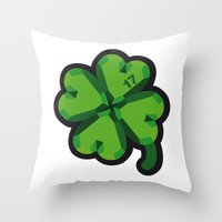 Lucky At 17th March Throw Pillow
