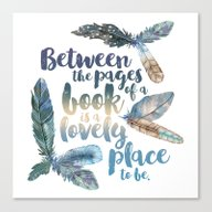 Between The Pages - Feat… Canvas Print