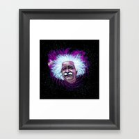 Albert Einstein Nebula Framed Art Print
