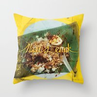 Fatty Rice Throw Pillow