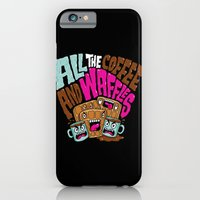 iPhone & iPod Case featuring ALL THE COFFEE AND WAFFLES by Chris Piascik