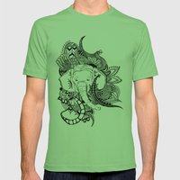 Inking Elephant Mens Fitted Tee Grass SMALL