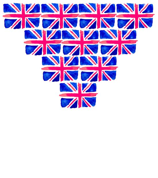 Watercolour Union Jack  Art Print