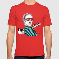 Vintage Elton - Analog Z… Mens Fitted Tee Red SMALL