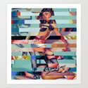 Glitch Pin-Up: Randi Art Print