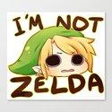 Link is not Zelda Canvas Print