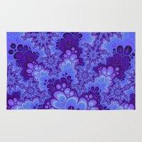 Purple Fractal art Rug