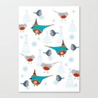 Winter Pattern3 Canvas Print
