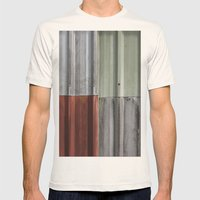 Corrugated Iron Mens Fitted Tee Natural SMALL