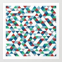 Triangles #3 Art Print