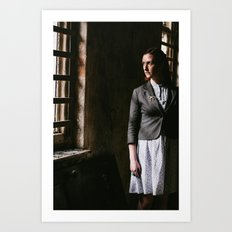 Young Woman by Window Art Print