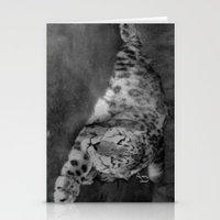 Lazy Leopard Stationery Cards