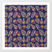 shell colorful Art Print