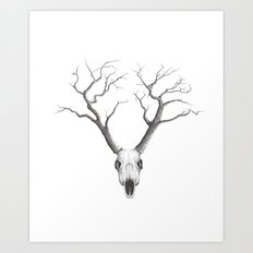 NO RAIN MY DEER Art Print